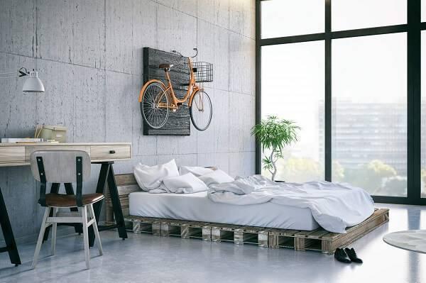 Utilize pallets na decoração do quarto