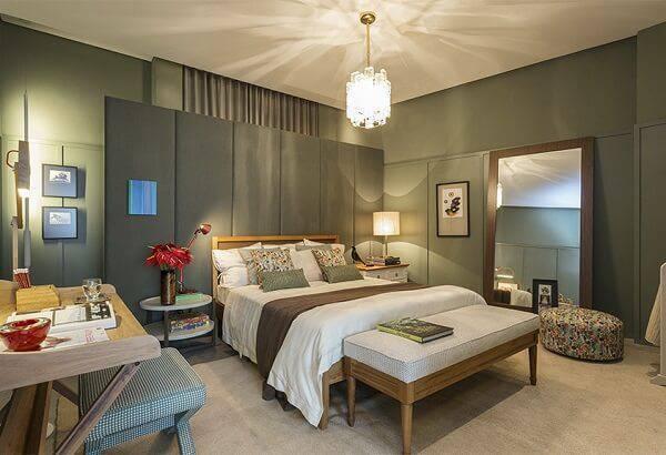 A cor e textura esverdeada proporciona um ambiente esteticamente relaxante