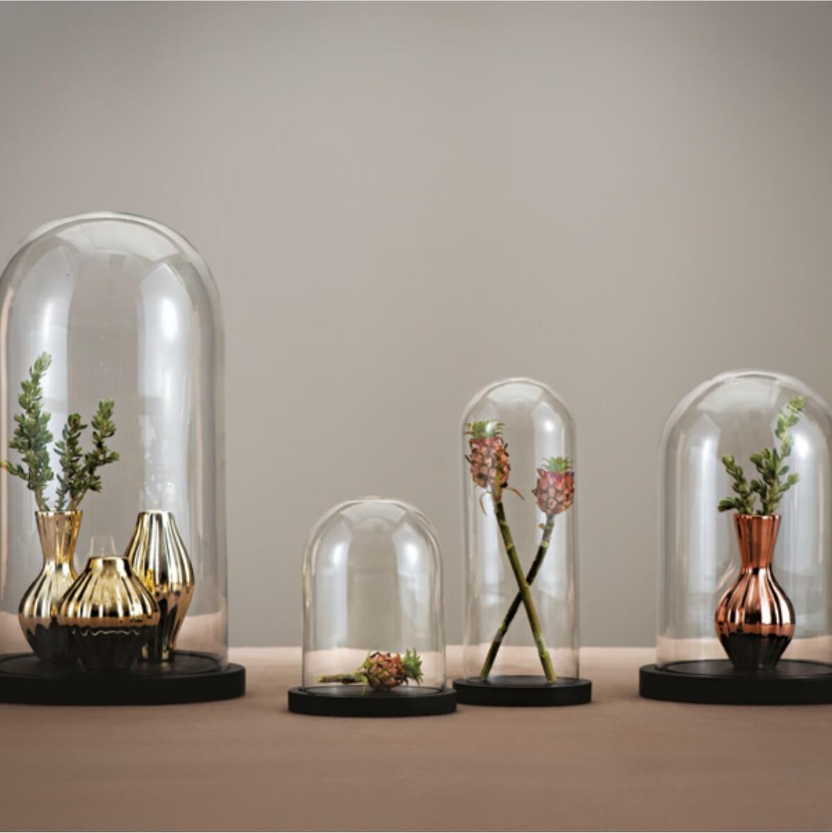 Decoração com redoma de vidro  Foto Pinterest