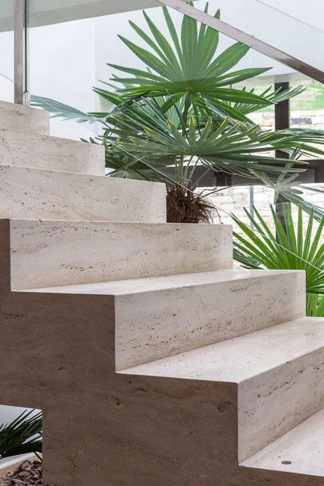 Escada de mármore - detalhe de escada de mármore