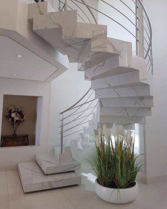 Escada de mármore - escada caracol de mármore