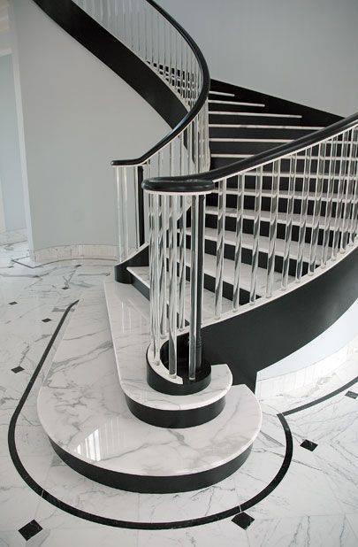 Escada de mármore - escada clássica de mármore