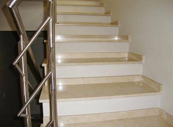 Escada de mármore - escada de mármore botticino