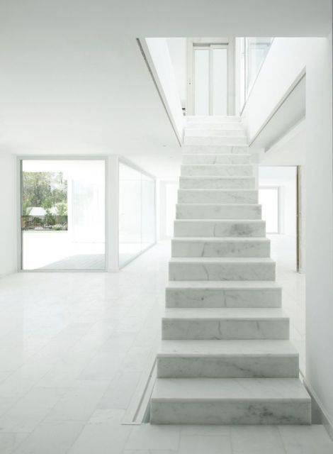 Escada de mármore - escada de mármore sem guarda corpo