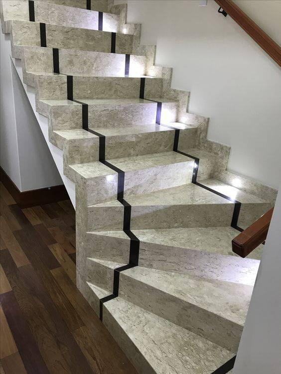 Escada de mármore - escada de mármore travertino