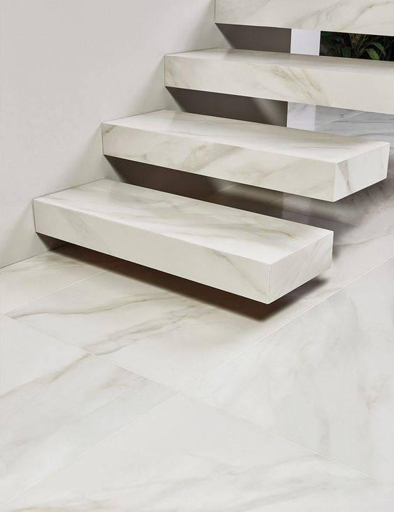 Escada de mármore - escada simples de mármore