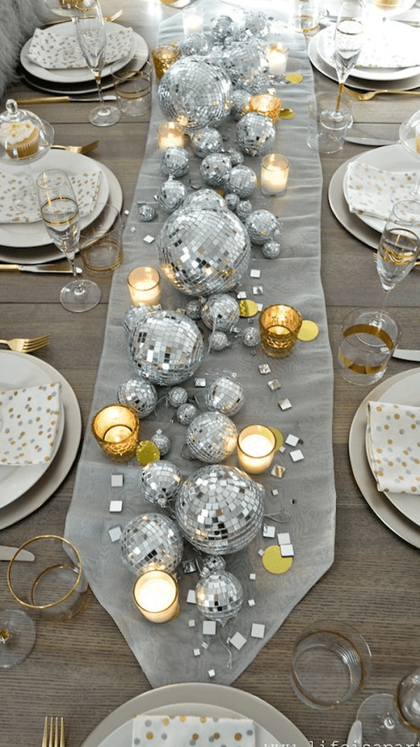 To decorate the table use items that were used at Christmas