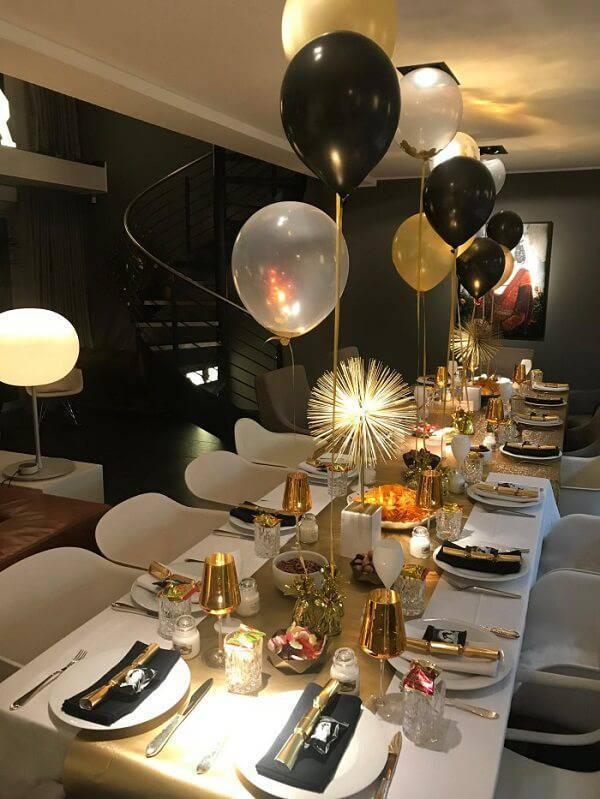 Os balões não podem faltar na decoração de Ano Novo