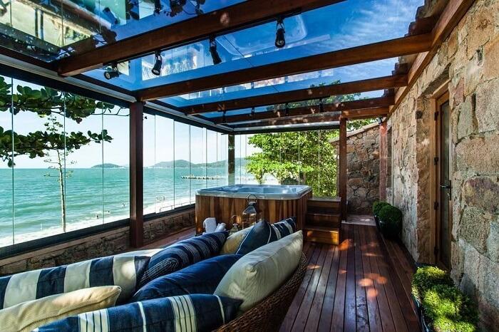 Móveis para varanda e banheiro de hidromassagem