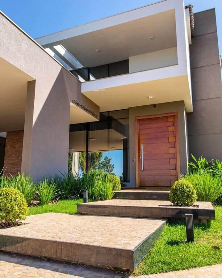 arquitetura para fachada de casas lindas e modernas Foto Invento Arquitetura