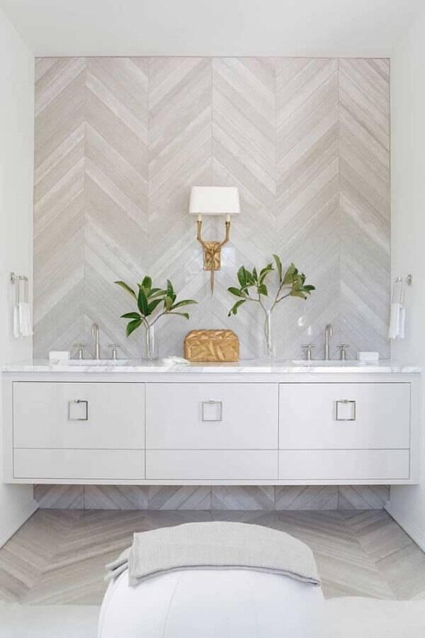 bancada de banheiro na cor branca Foto Darci Hether