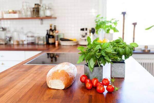 Balcão de madeira para cozinha de madeira
