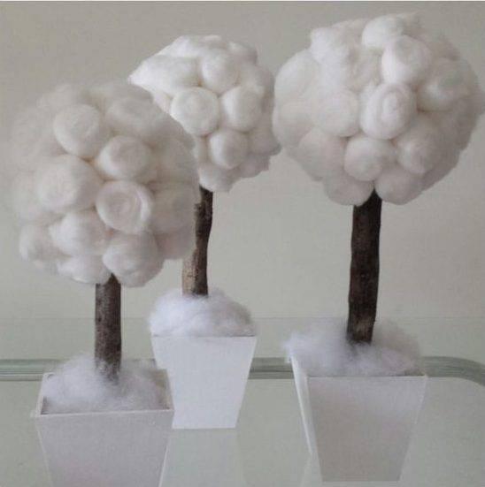 bodas de algodão - árvores de algodão