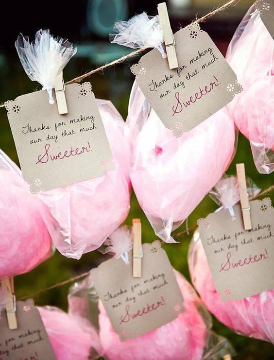 bodas de algodão - algodões doces em varal