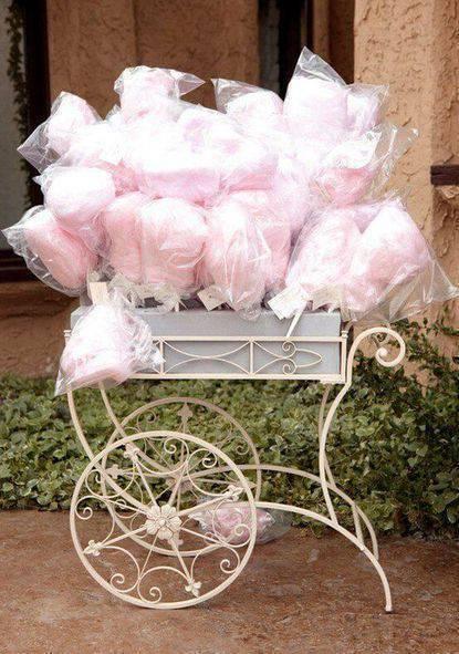 bodas de algodão - carrinho de algodão doce