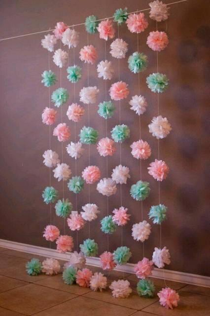bodas de algodão - decoração com algodões coloridos