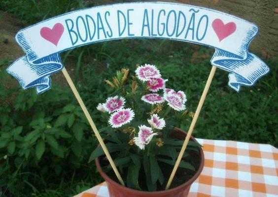 bodas de algodão - decoração de bodas com flores