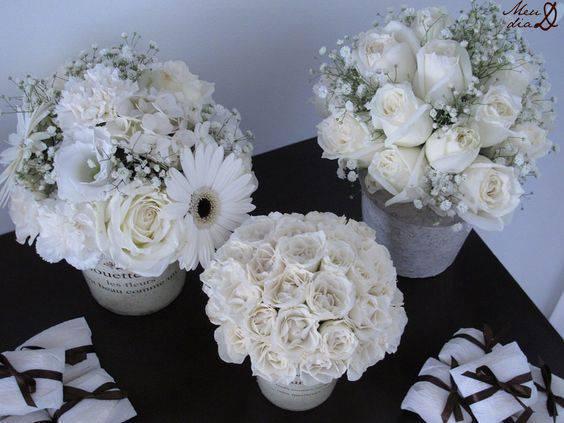 bodas de algodão - decoração de bodas de algodão com flores