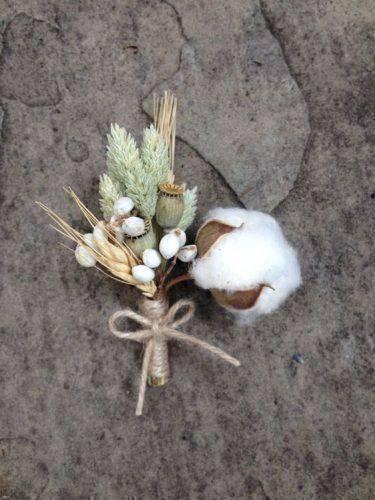bodas de algodão - detalhe de decoração