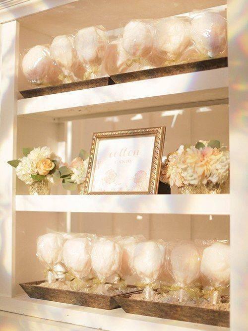 bodas de algodão - estante de doces