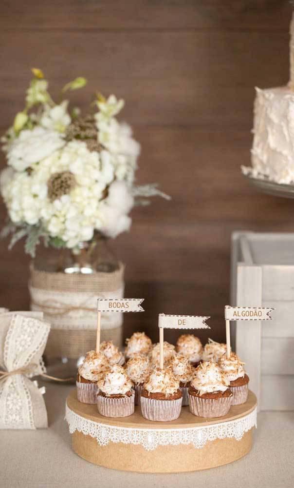 bodas de algodão - mesa de doces