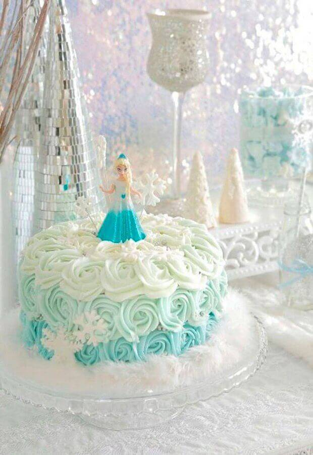 bolo da frozen de chantilly Foto Cake Inspiration