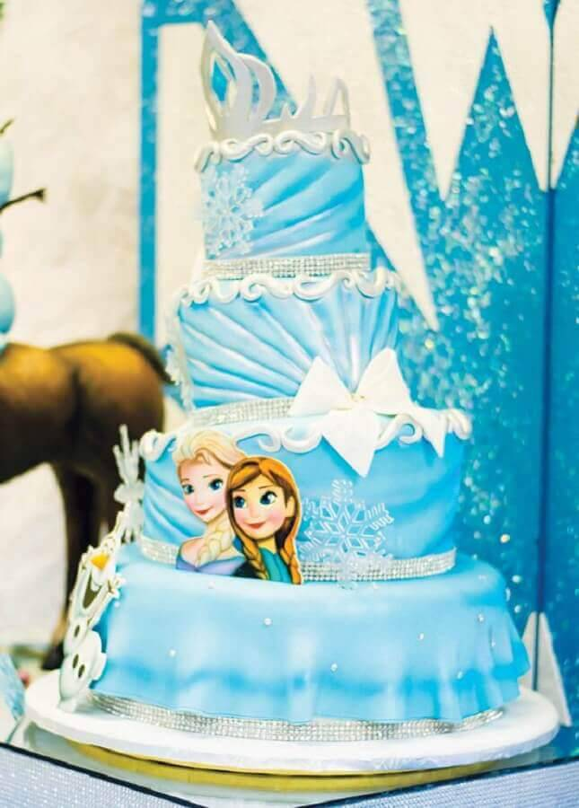 frozen Photo Cake Inspiration birthday cake
