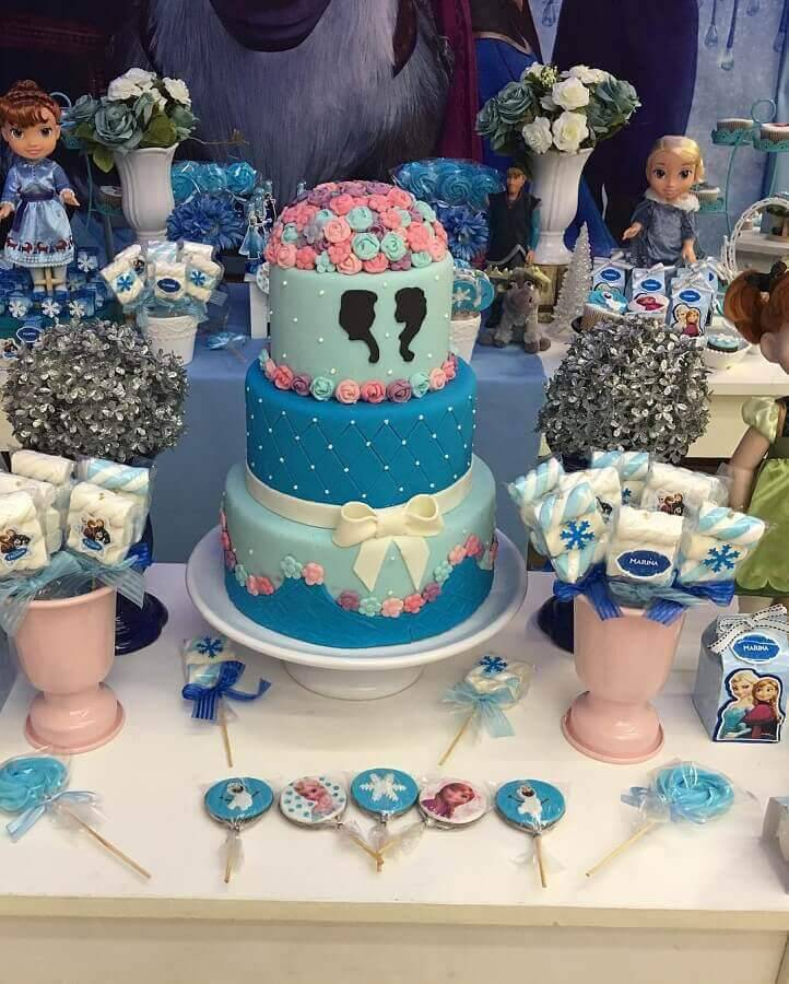 birthday cake from frozen Foto Festas.Biz