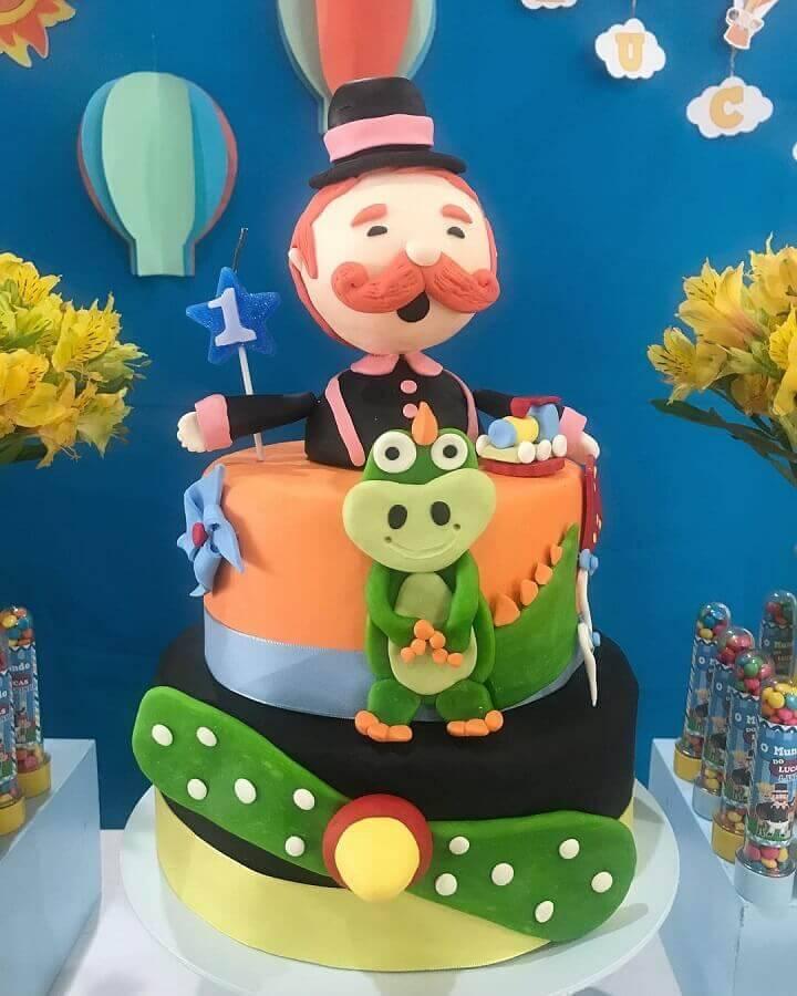 bolo decorado para festa do mundo bita Foto Ateliê Criando Arte e Decor