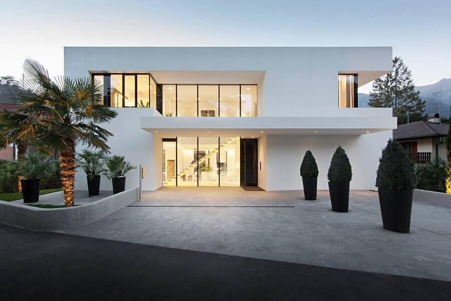 casas lindas com fachada toda branca Foto Home Interior Design