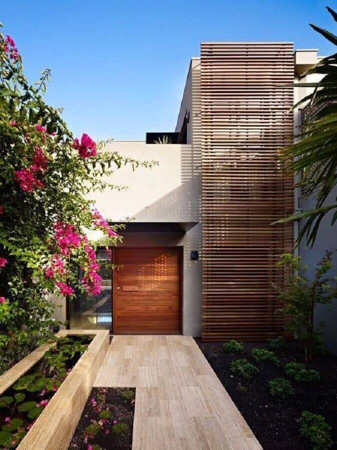 casas lindas e modernas com detalhe em madeira na fachada Foto Weibo