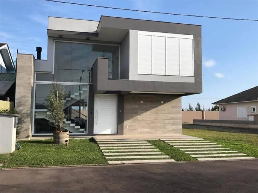 casas lindas e modernas com paredes de vidro Foto Compplex Arquitetura