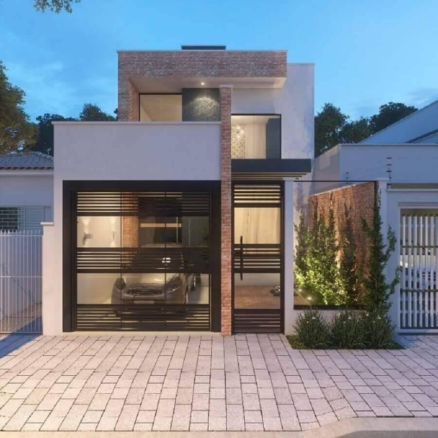 casas lindas e simples com fachada moderna Foto Adriana Mello Arquitetura
