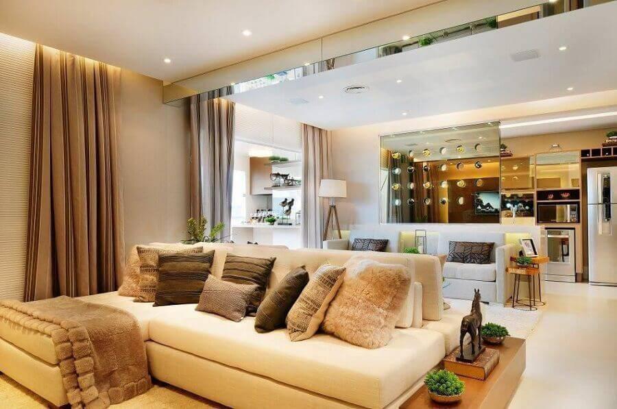 casas lindas por dentro decorada em tons neutros Foto Quitete & Faria