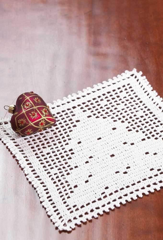 centro de mesa de crochê