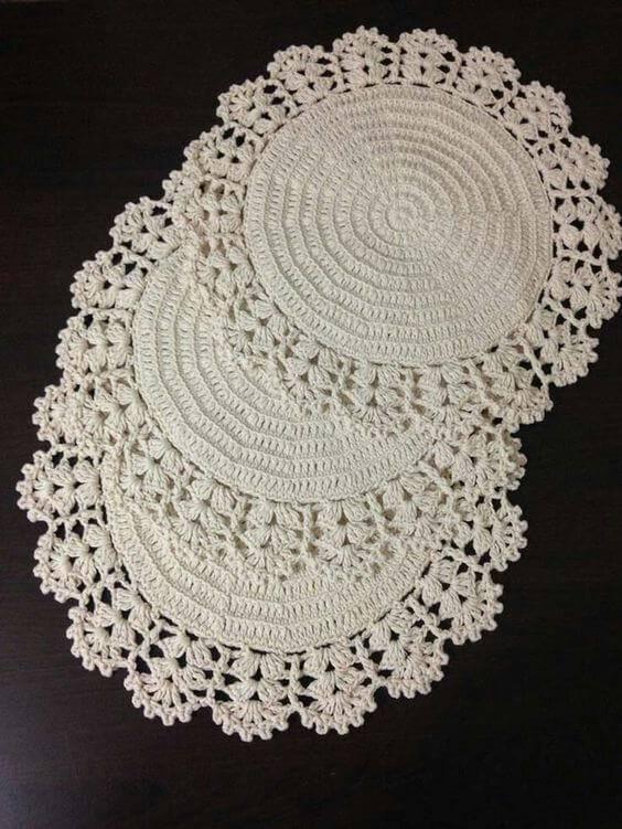 como fazer centro de mesa de crochê redondo