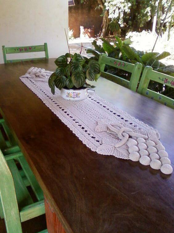 Centro de mesa de crochê para varanda