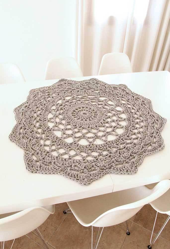 Centro de mesa de crochê redondo