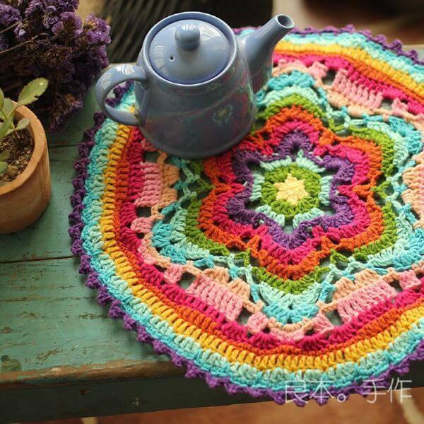 Centro de mesa colorido