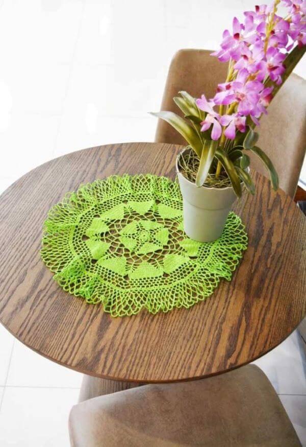 Centro de mesa pequeno e verde