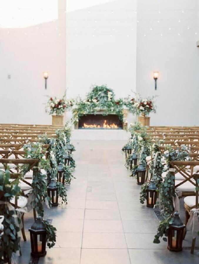 wedding ceremony decorated with foliage arrangement Foto Glamour & Woods