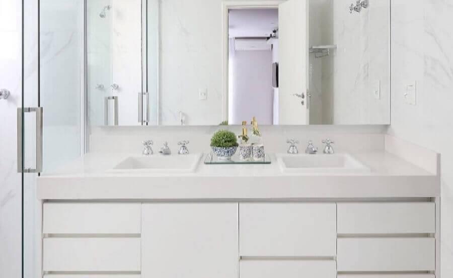 cor branca para banheiro Foto GF Projetos