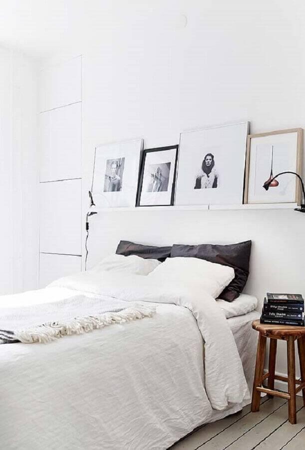 cor branca para quarto de casal Foto Pinterest