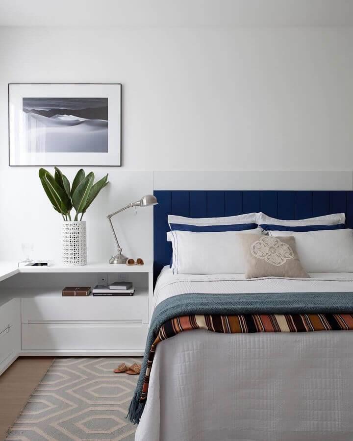 cor branca para quarto de casal moderno Foto Juliana Pippi