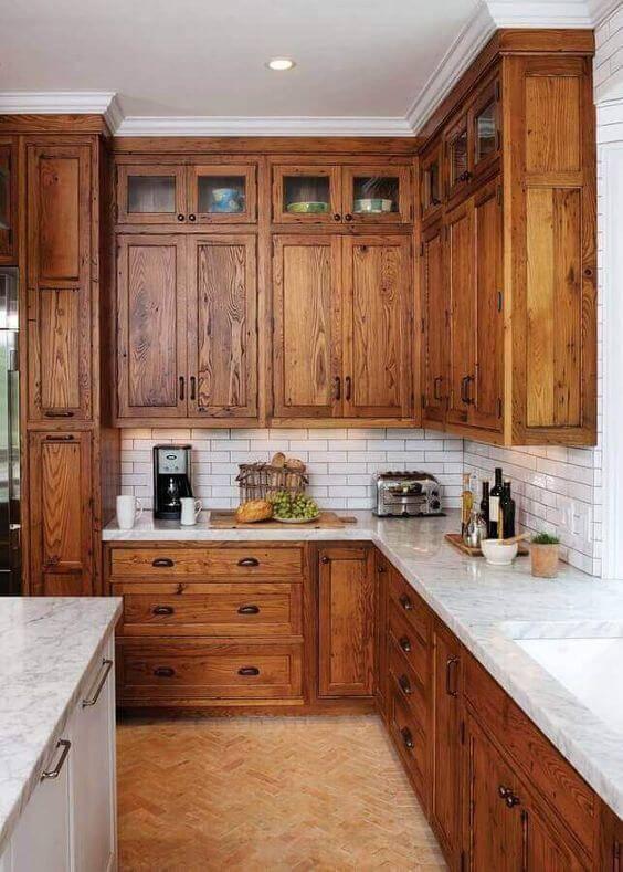 Cozinha de madeira rústica