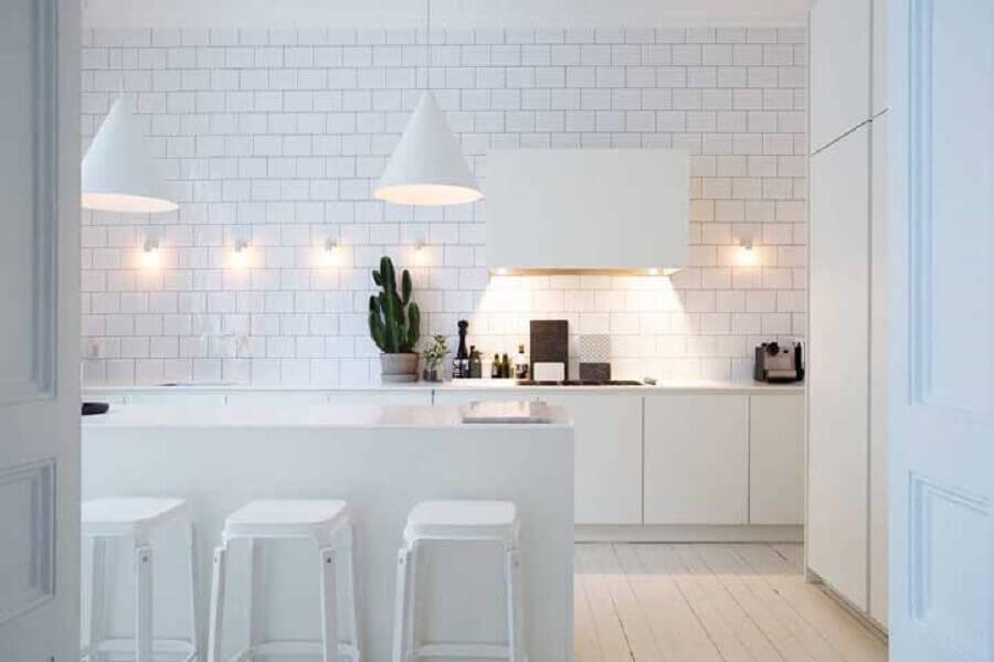 cozinha na cor branca Foto Pinosy