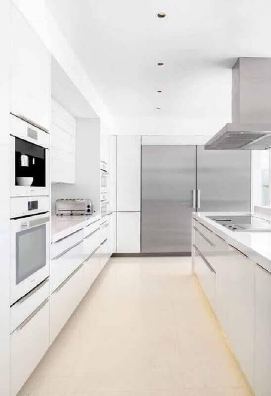 cozinha na cor branca planejada Foto Wood Save