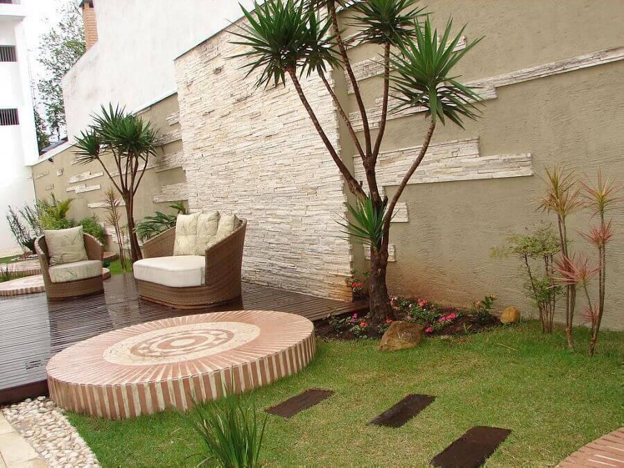 decoração com móveis para jardim residencial Foto Pinterest
