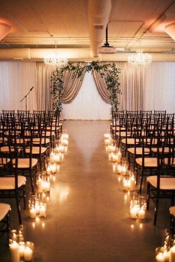decoration with candles for simple wedding ceremony Foto Pinterest