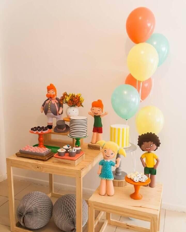 decoração festa mundo bita simples Amor de Mãe Decor